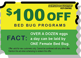 $100 off Bed Bug Programs