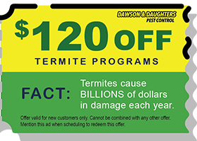 $120 off and Termite Programs